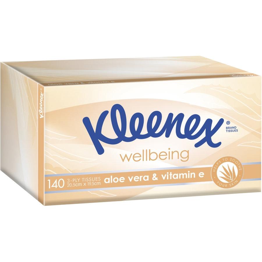 Kleenex Extra Care Tissues Aloe Vera box 140pk - buy online at countdown.co.nz