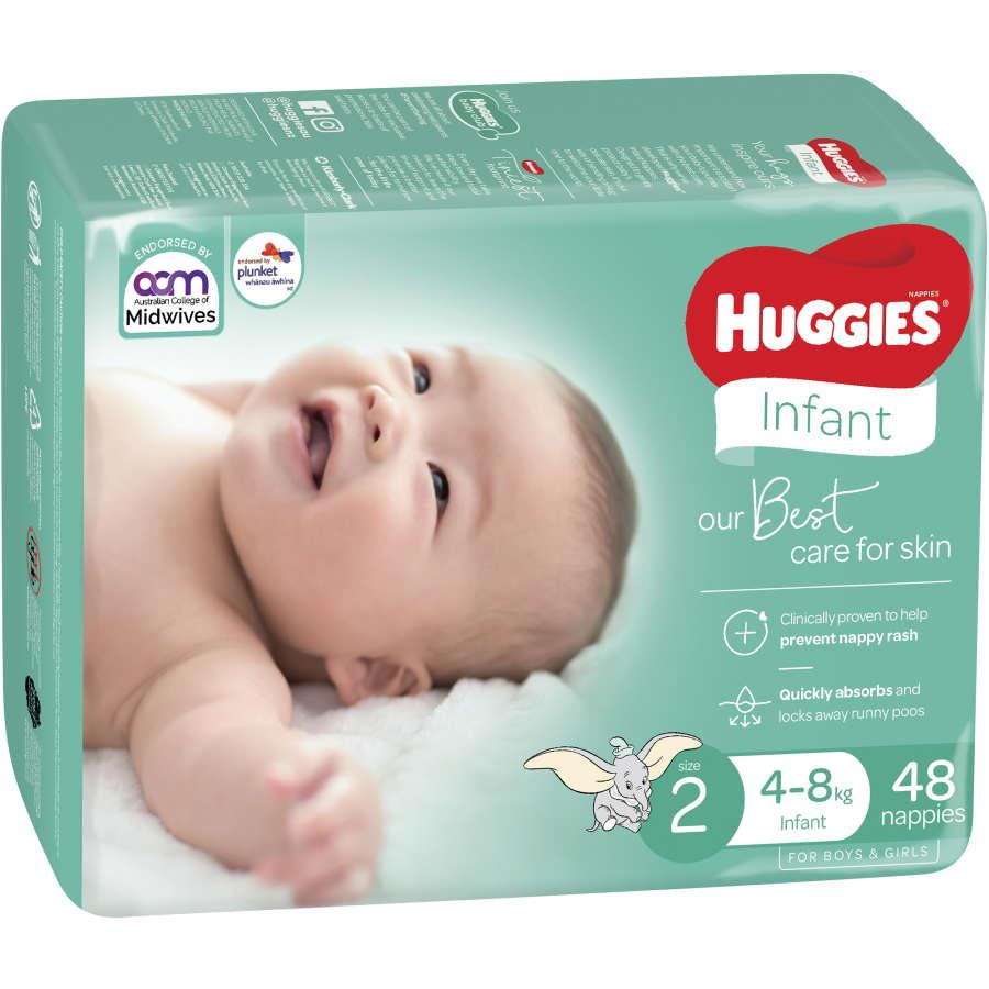 Huggies Ultra Dry Infant 4-8kg Size 2 bulk pack 48pk - buy online at countdown.co.nz