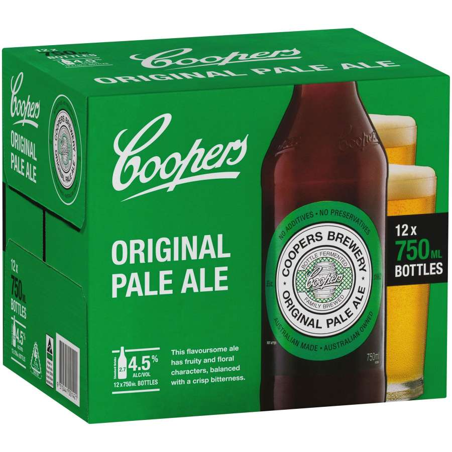 Coopers Pale Ale Beer Longneck btl 750ml - buy online at countdown.co.nz