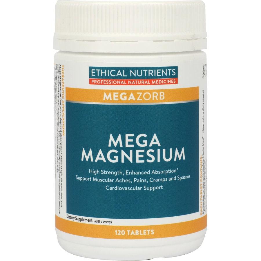 Ethical Nutrients Mega Magnesium Tablets, 120pk