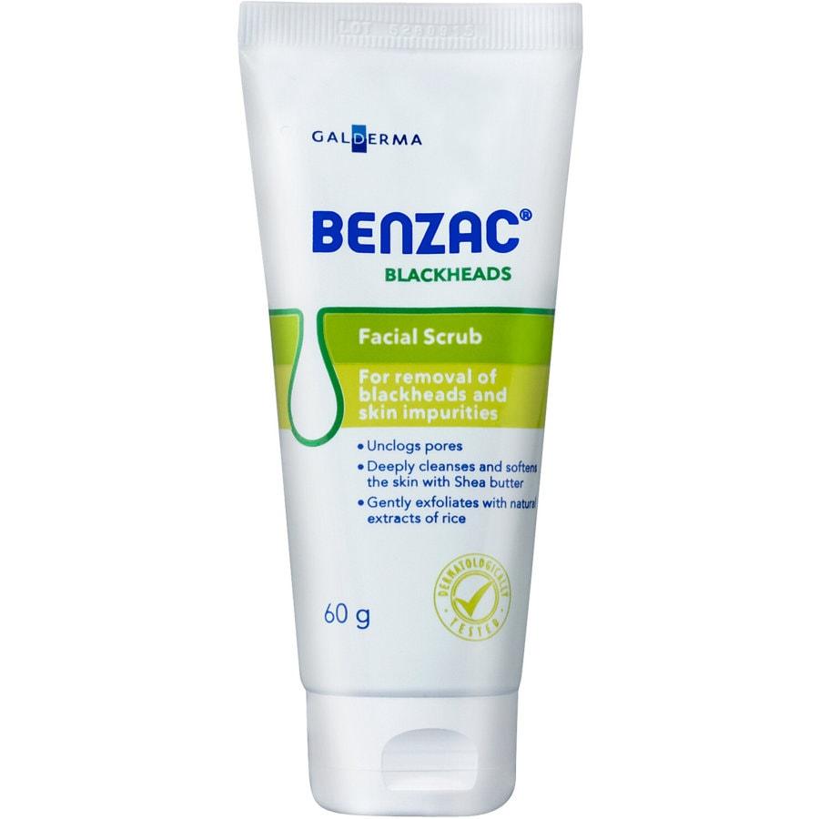 Benzac Facial Scrub Blackheads tube 60g - buy online at countdown.co.nz