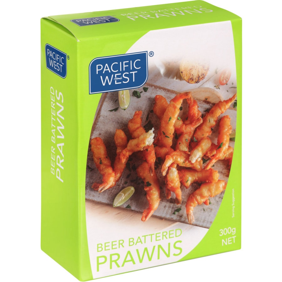 Pacific West Prawns Beer Battered Torpedos frozen 300g - buy online at countdown.co.nz