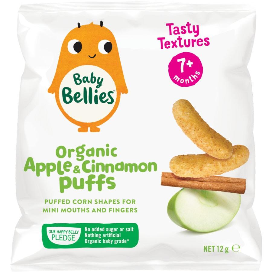 Little Bellies Baby Puffs Baby Snacks Apple & Cinnamon Corn Puffs 12g - buy online at countdown.co.nz