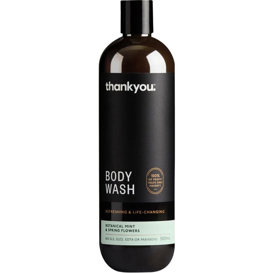 Thank You Body Wash Mint & Spring Flowers 500ml - buy online at countdown.co.nz