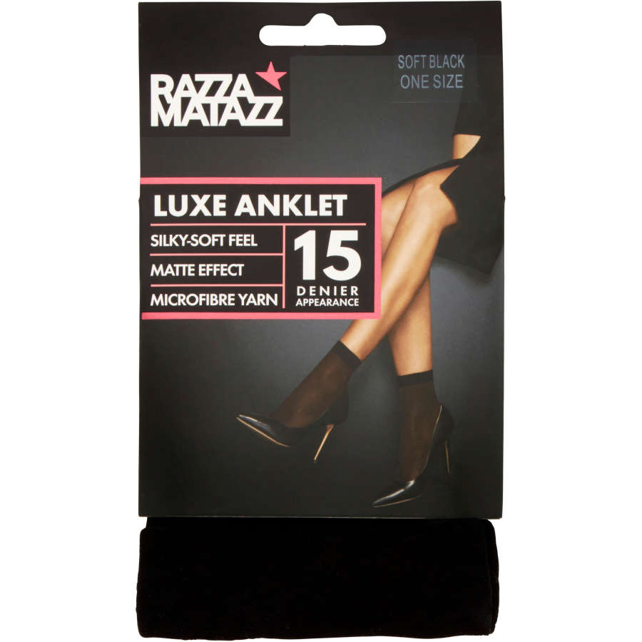 Razzamatazz Luxe Anklet Black Size 1  - buy online at countdown.co.nz