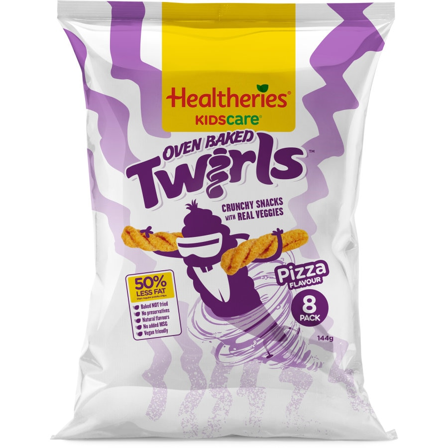 Healtheries Oven Baked Vege Snacks Pizza Twirls 144g - buy online at countdown.co.nz
