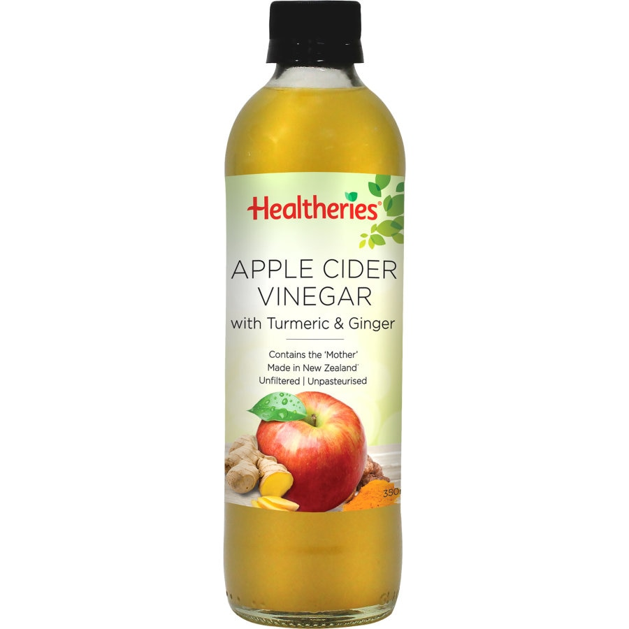 Healtheries Apple Cider Vinegar Turmeric & Ginger 350ml - buy online at countdown.co.nz