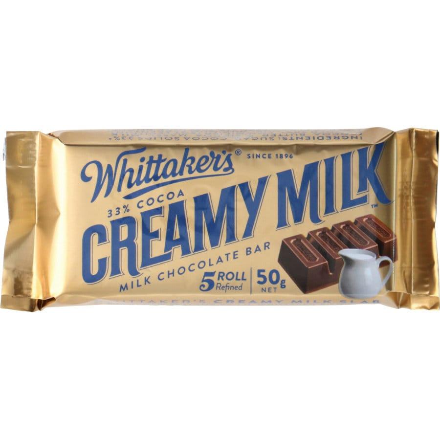 Whittakers Chocolate Bar Creamy Milk Slab each 50g - buy online at countdown.co.nz