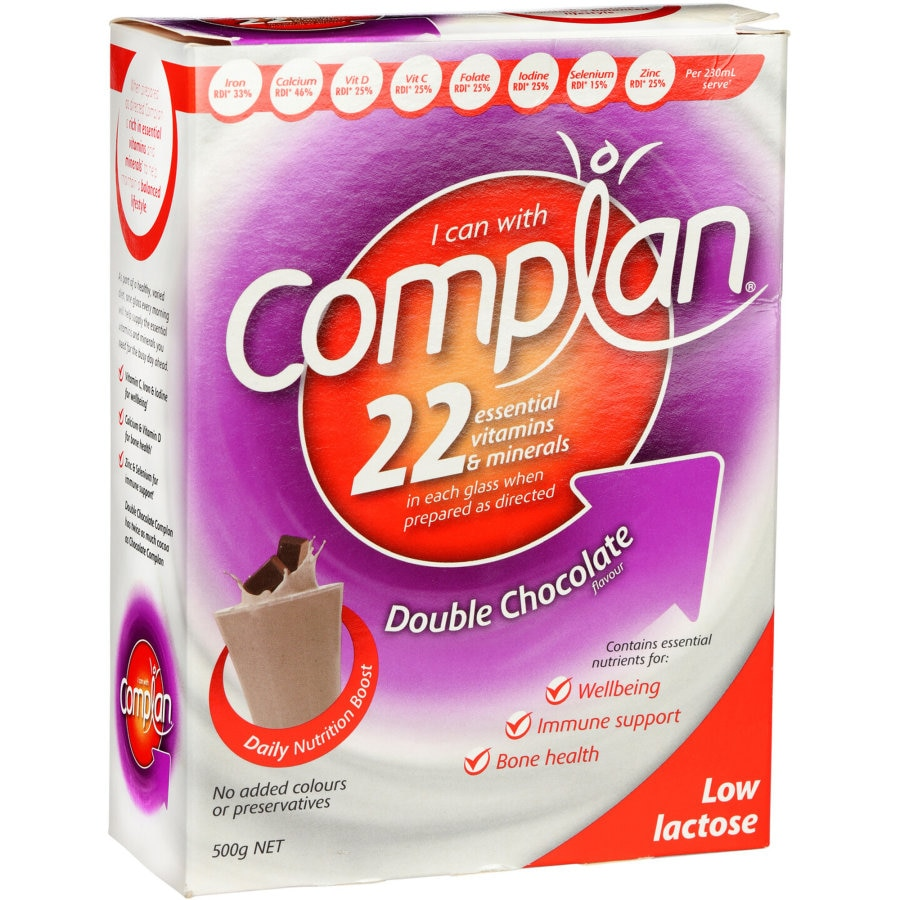 Complan Nutrition Formula Double Chocolate 500g - buy online at countdown.co.nz