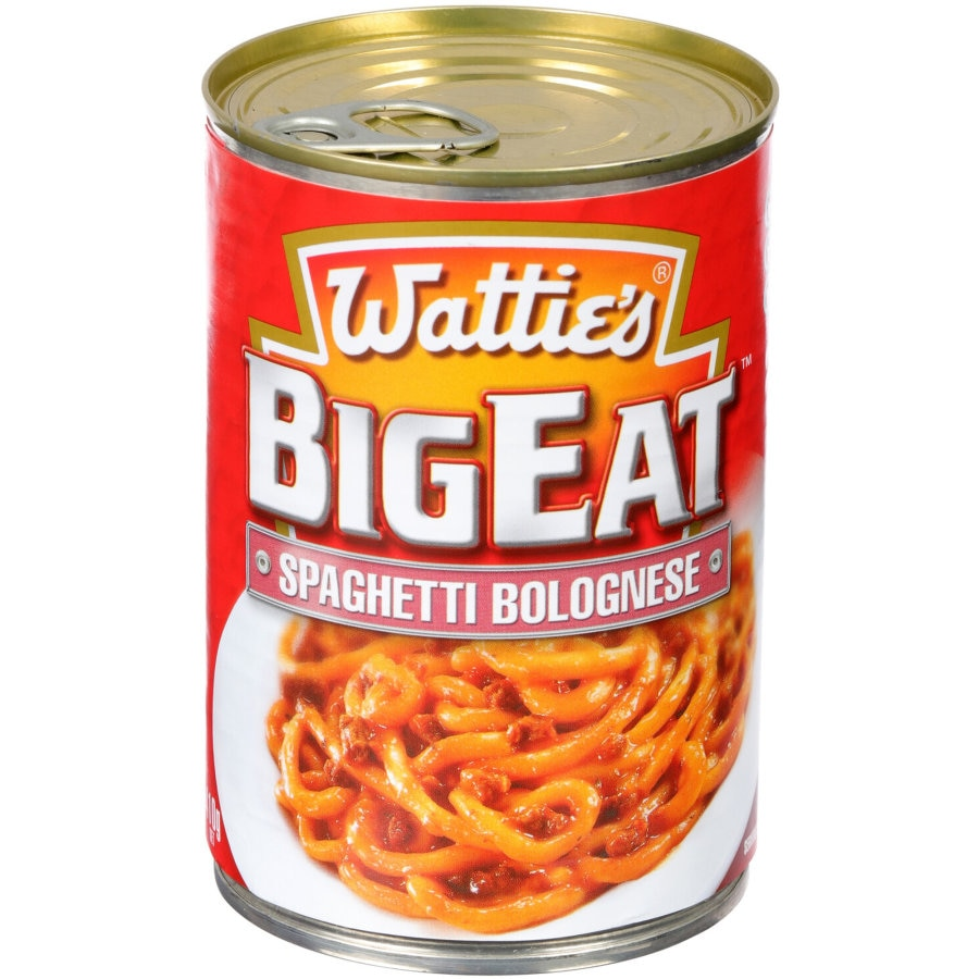 Watties Big Eat Canned Dinners Spaghetti Bolognese 410g - buy online at countdown.co.nz