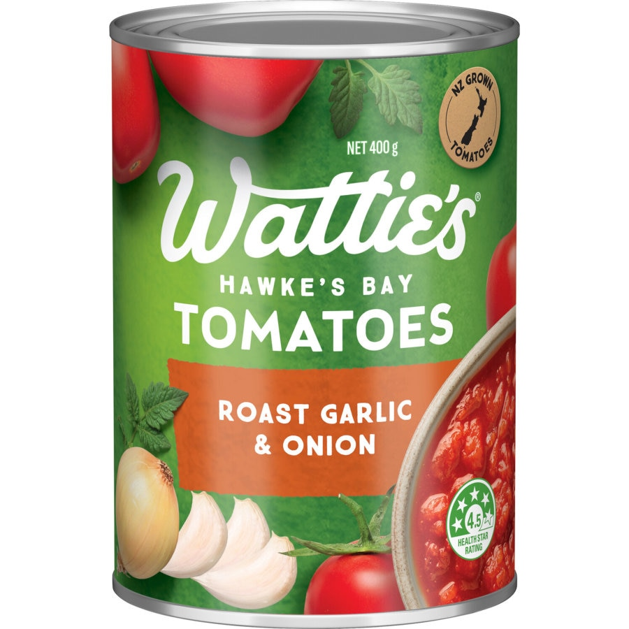 Wattie's Tomatoes Roasted Garlic & Onion 400g - buy online at countdown.co.nz