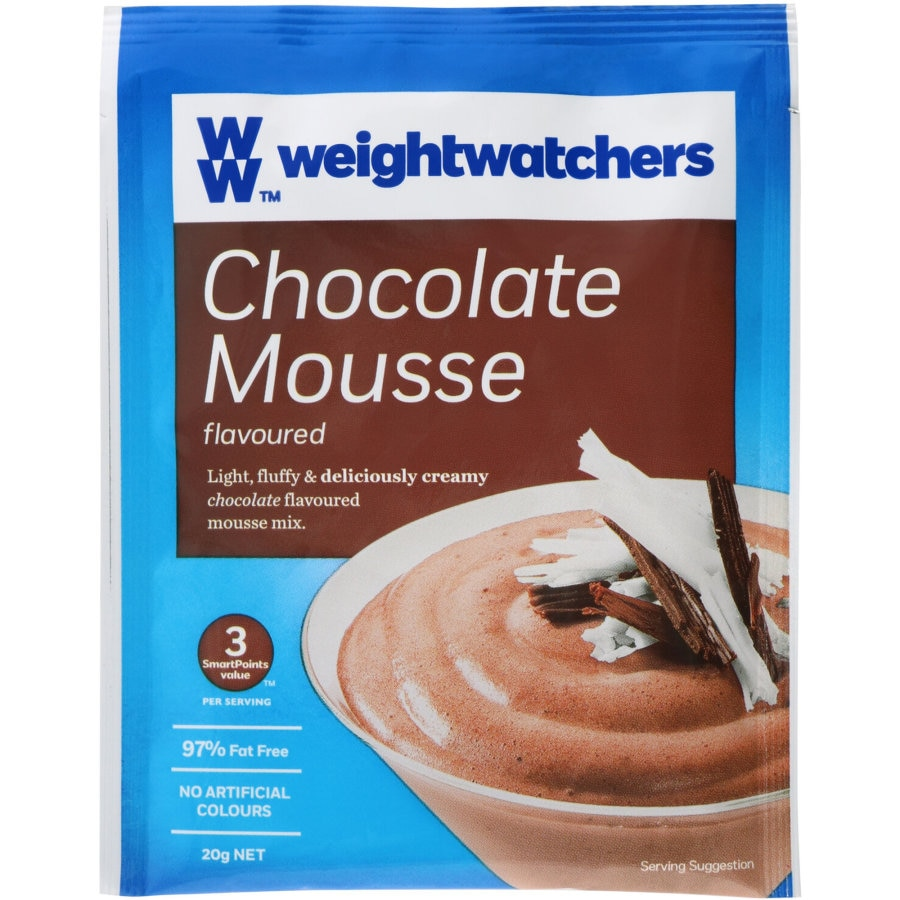 Weight Watchers Mousse Mix Chocolate pkt 20g - buy online at countdown.co.nz