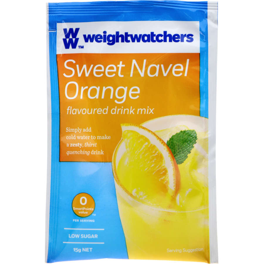 Weight Watchers Sachet Drink Mix Sweet Navel Orange 15g - buy online at countdown.co.nz