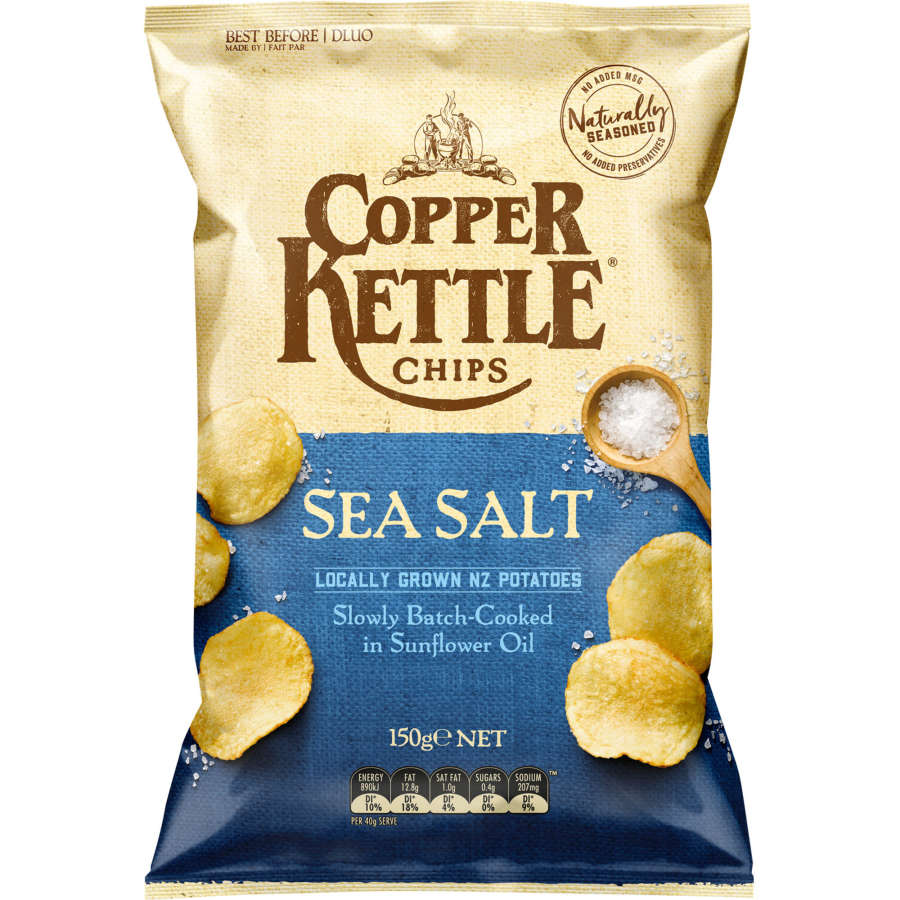 Copper Potato Chips Sea Salt 150g - buy online at countdown.co.nz