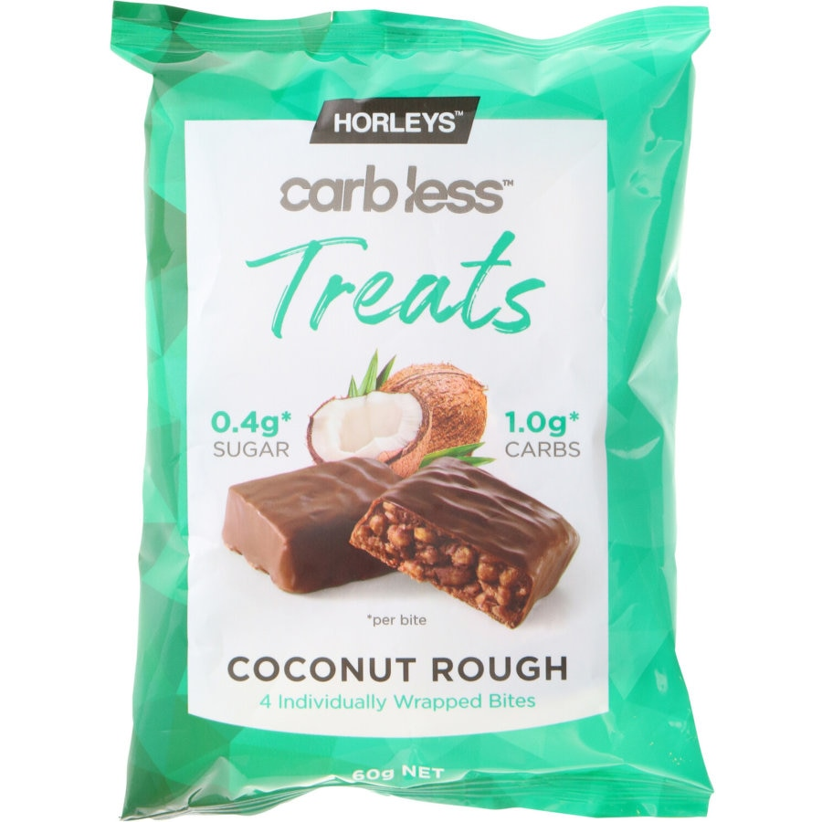Horleys Carbless Treats Nutrition Bar Coconut Rough 60g - buy online at countdown.co.nz