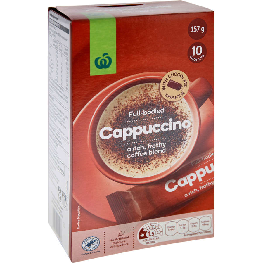 Countdown Coffee Mix Cappuccino box 10 stick sachets - buy online at countdown.co.nz
