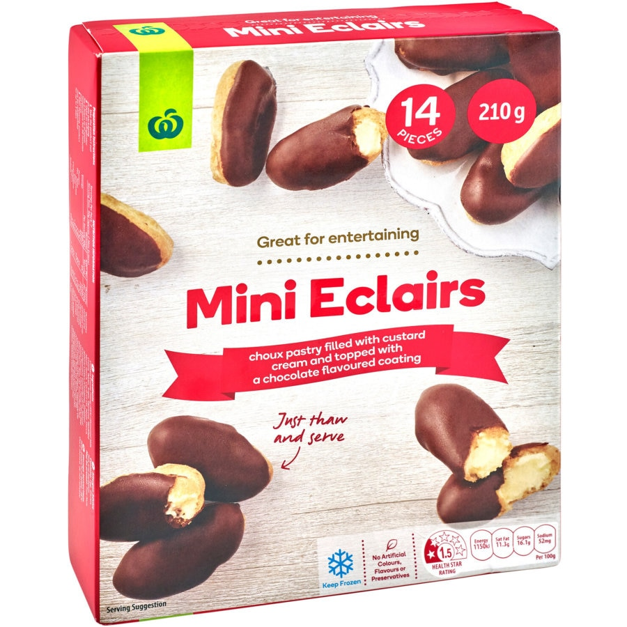 Countdown Chocolate Eclairs Minis 210g - buy online at countdown.co.nz