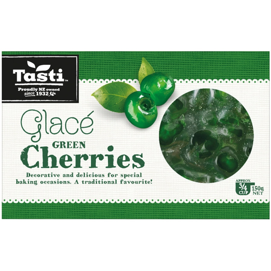 Tasti Cherries Glace Green box 150g - buy online at countdown.co.nz