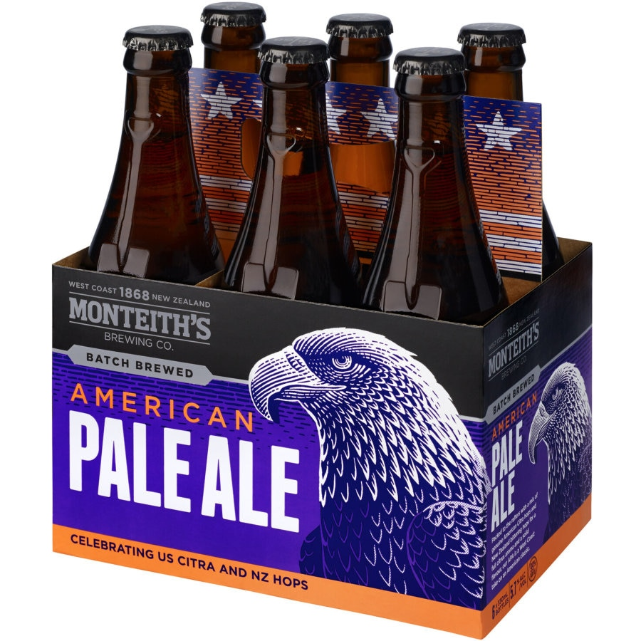 Monteiths Brewers Series Beer American Pale Ale 330ml bottles 6pk - buy online at countdown.co.nz