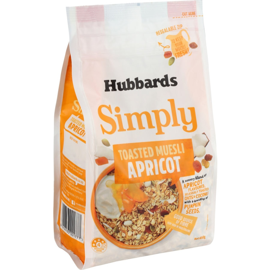 Hubbards Simply Toasted Fruit Muesli Apricot 650g - buy online at countdown.co.nz
