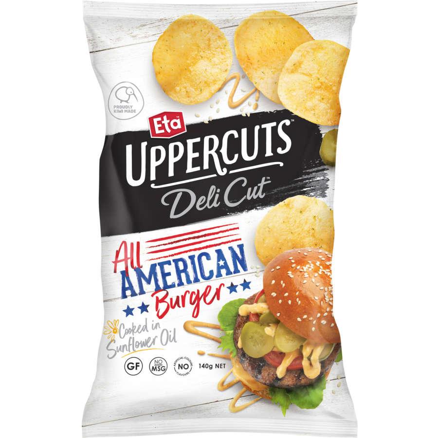 Eta Uppercuts Deli Cut Potato Chips American Burger 140g - buy online at countdown.co.nz