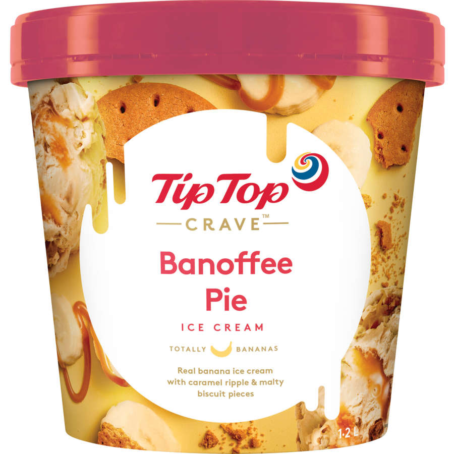 Tip Top Crave Ice Cream Banoffee Pie 1.2l - buy online at countdown.co.nz
