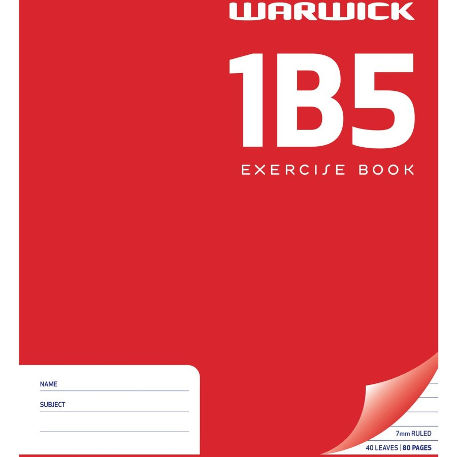 Warwick Exercise Book 1b5 each - buy online at countdown.co.nz