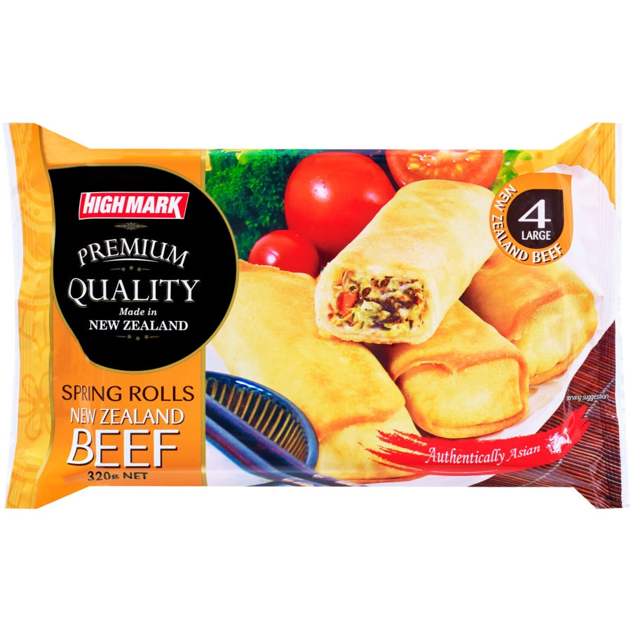 Highmark Spring Rolls Traditional Beef 320g 4pk - buy online at countdown.co.nz