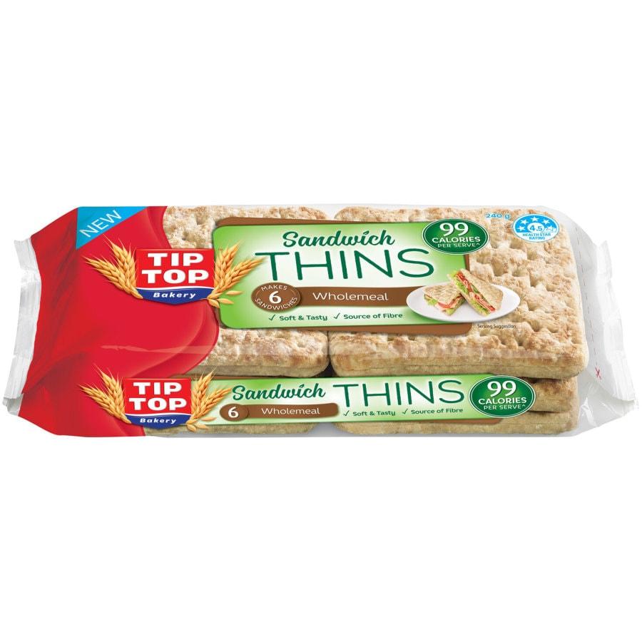 Buy Tip Top Sandwich Bread Thins Wholemeal Online At Shop Countdown Co Nz Последние твиты от water sandwich (@sandwich_water). buy tip top sandwich bread thins