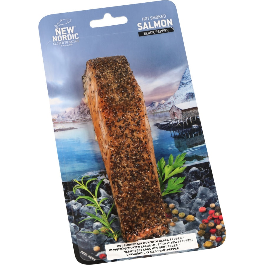 New Nordic Smoked Salmon Hot Smoked Black Pepper 150g - buy online at countdown.co.nz