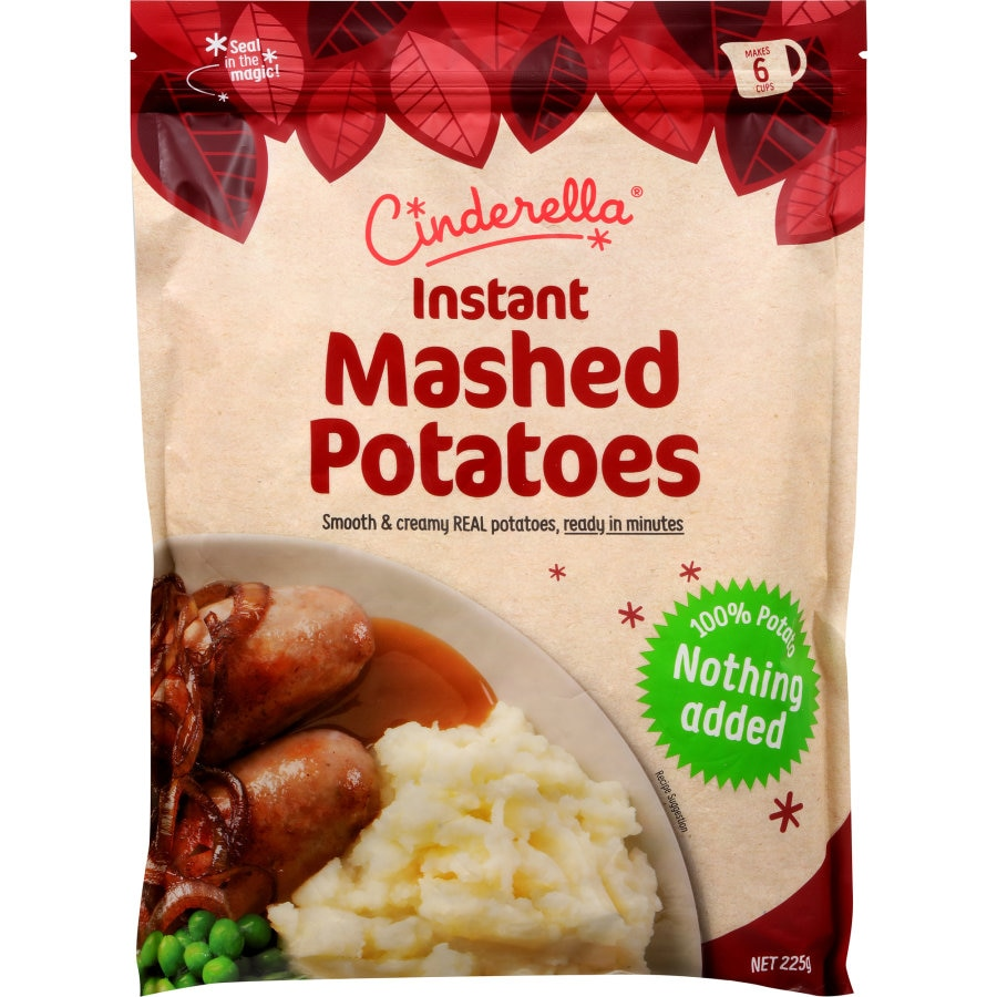 Cinderella Potato Flakes Instant Mashed 225g - buy online at countdown.co.nz