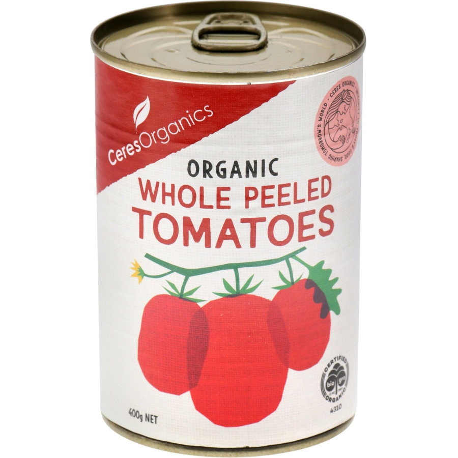 Ceres Organics Tomatoes Whole Peeled 400g - buy online at countdown.co.nz