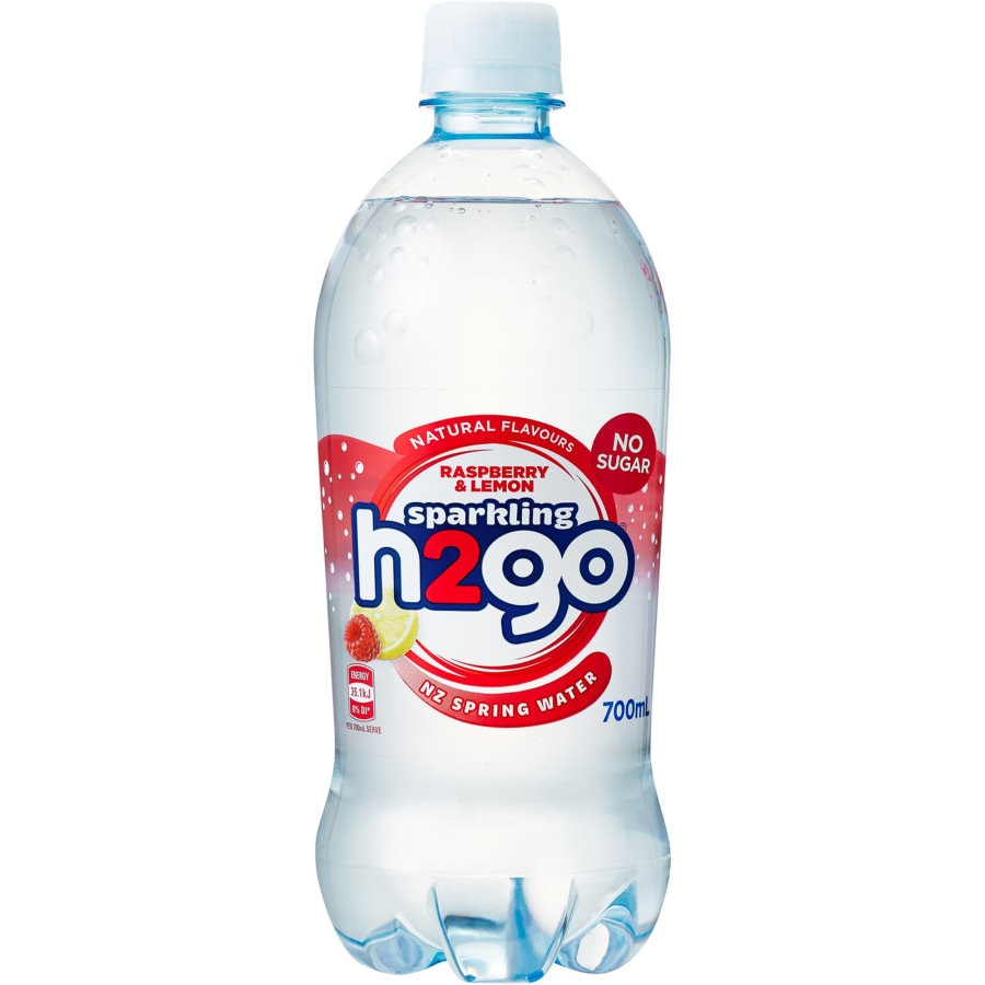 H2go Sparkling Water Raspberry & Lemon 700ml - buy online at countdown.co.nz