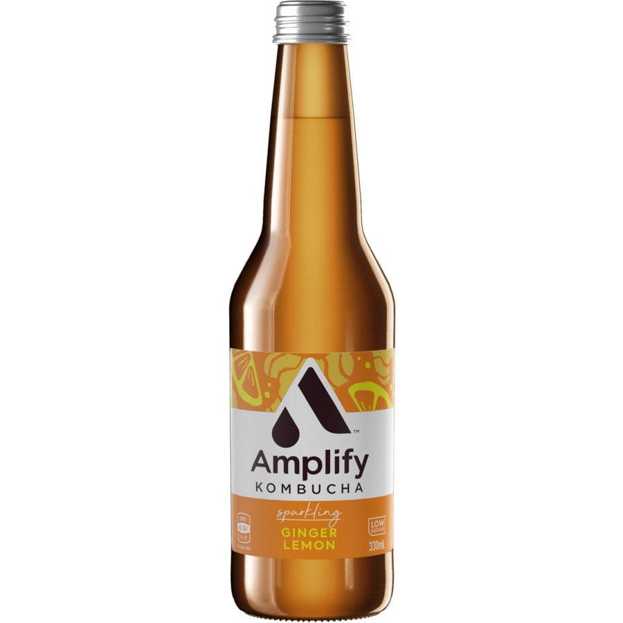 Amplify Kombucha Ginger & Lemon 330ml - buy online at countdown.co.nz