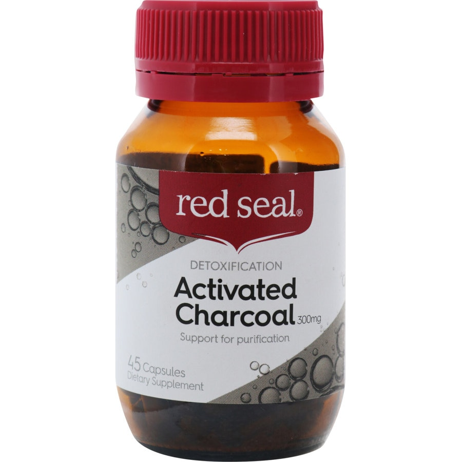 Red Seal Charcoal Activated 300mg capsules 45 caps - buy online at countdown.co.nz