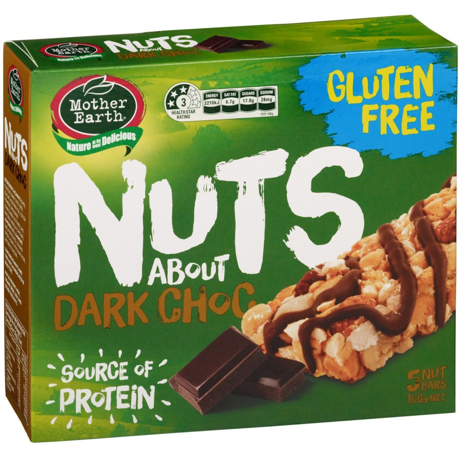 Mother Earth Nuts About Muesli Bars Dark Choc 5pk - buy online at countdown.co.nz