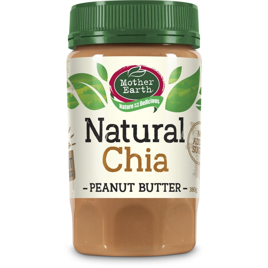 Mother Earth Peanut Butter Chia Seed 380g - buy online at countdown.co.nz