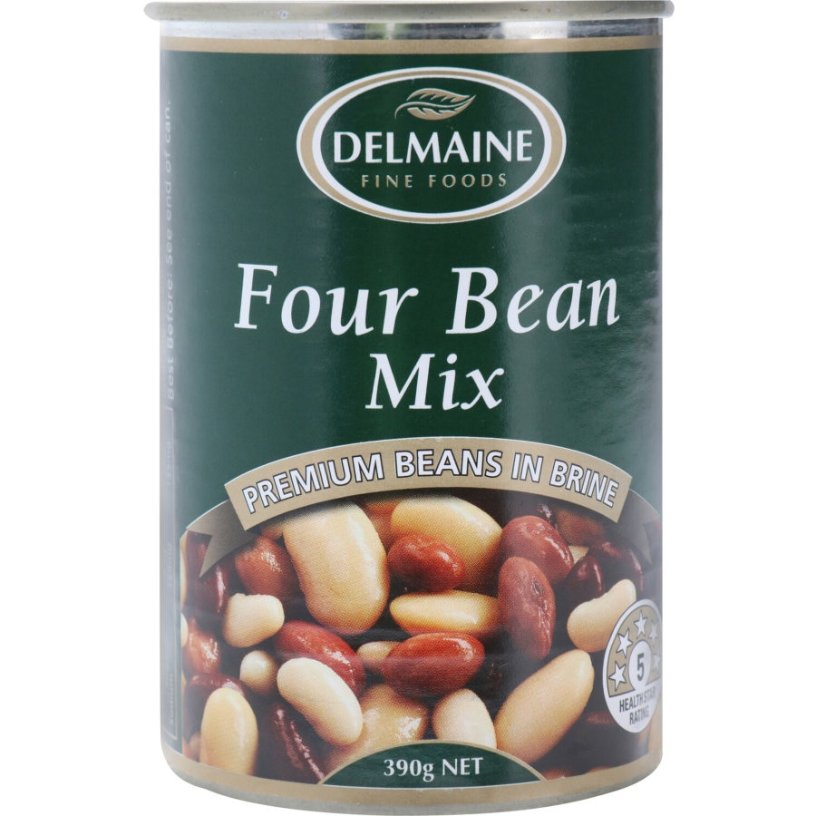 Delmaine Beans Four Bean Mix 390g - buy online at countdown.co.nz