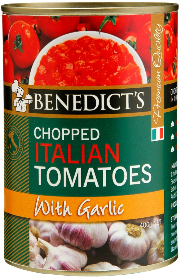 Benedicts Tomatoes Chopped Italian With Garlic 400g - buy online at countdown.co.nz