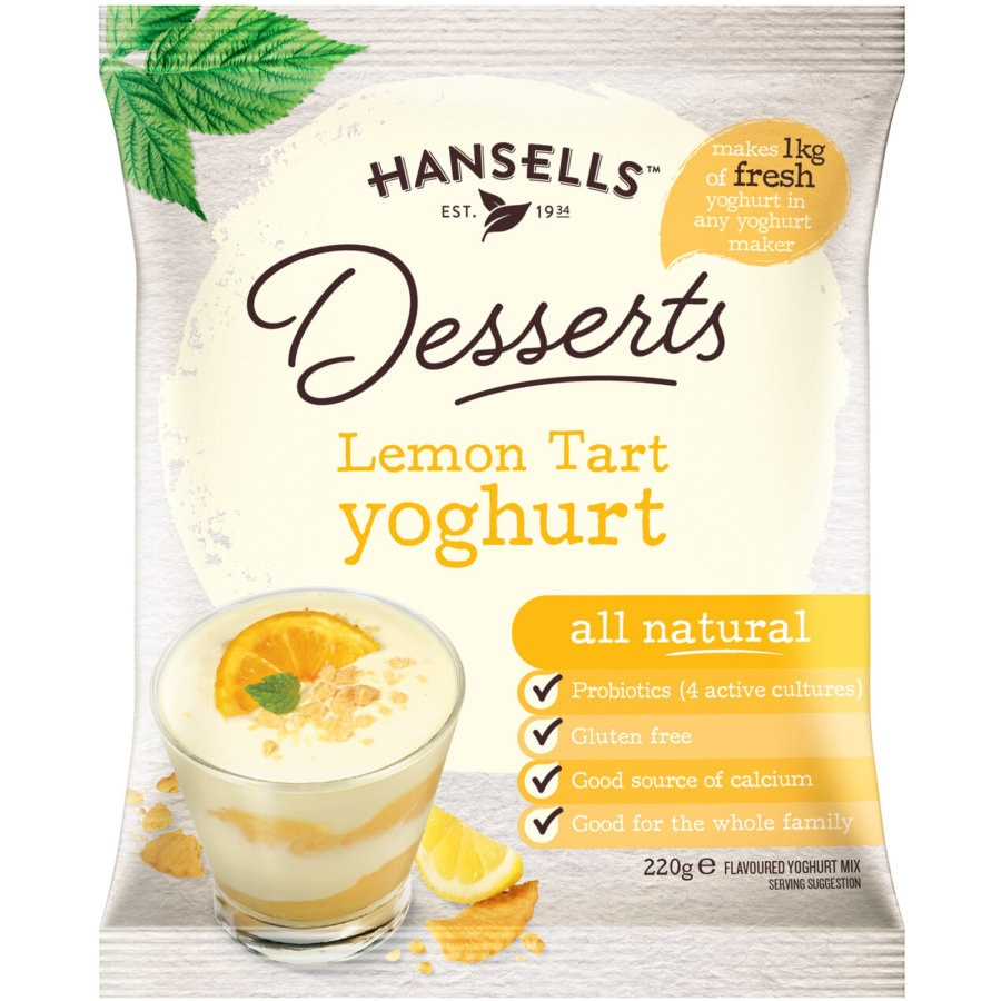 Hansells Yoghurt Base Lemon Tart Dessert sachet 220g - buy online at countdown.co.nz