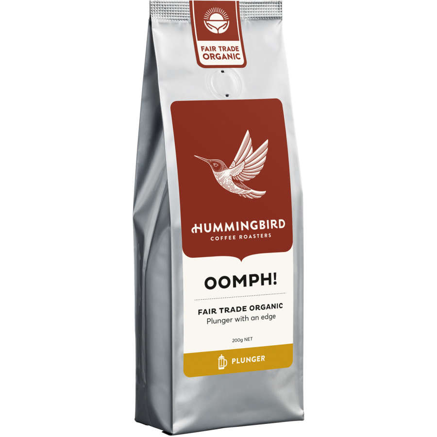 Hummingbird Oomph! Organic Plunger Grind Coffee 200g - buy online at countdown.co.nz