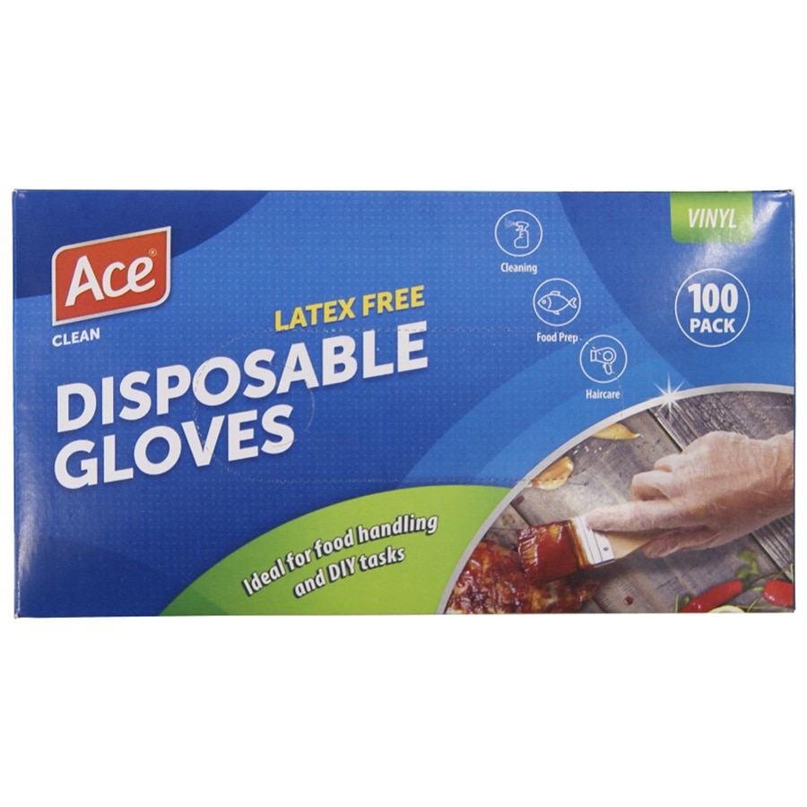 Ace Gloves Vinyl 100pk - buy online at countdown.co.nz