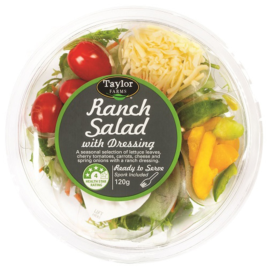 Taylor Farms Fresh Salad Ranch With Dressing 120g - buy online at countdown.co.nz