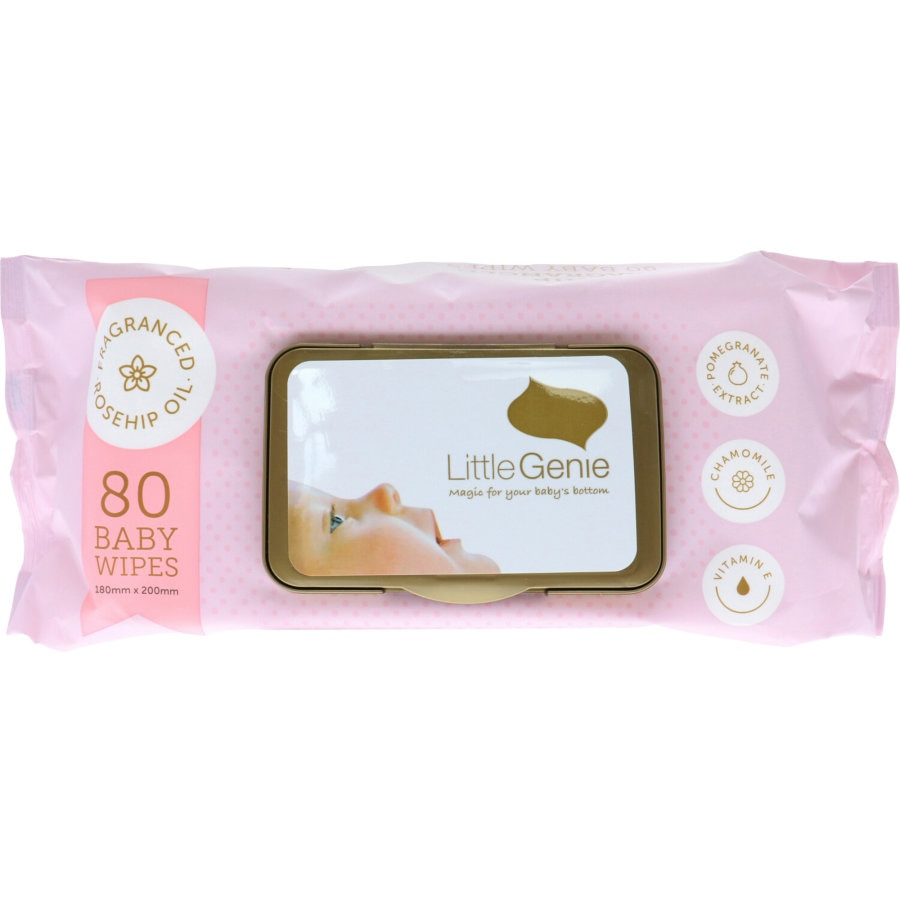 Little Genie Baby Wipes Thick Fragrance 80pk - buy online at countdown.co.nz
