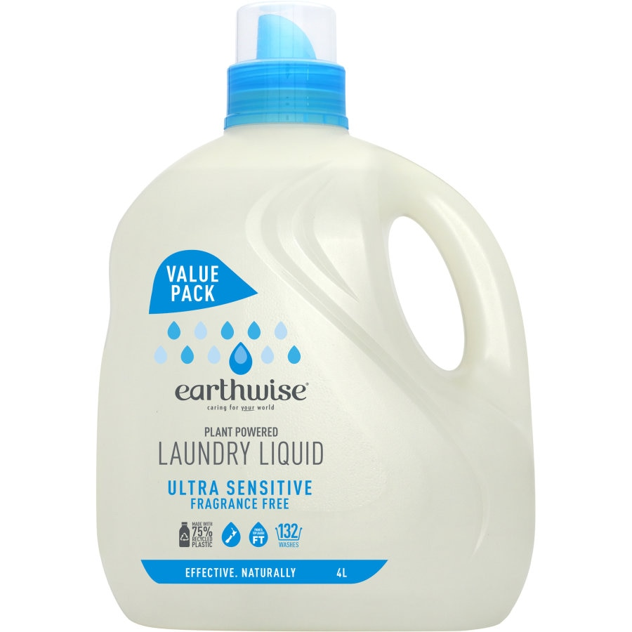 Earthwise Laundry Liquid Fragrance Free 4l - buy online at countdown.co.nz