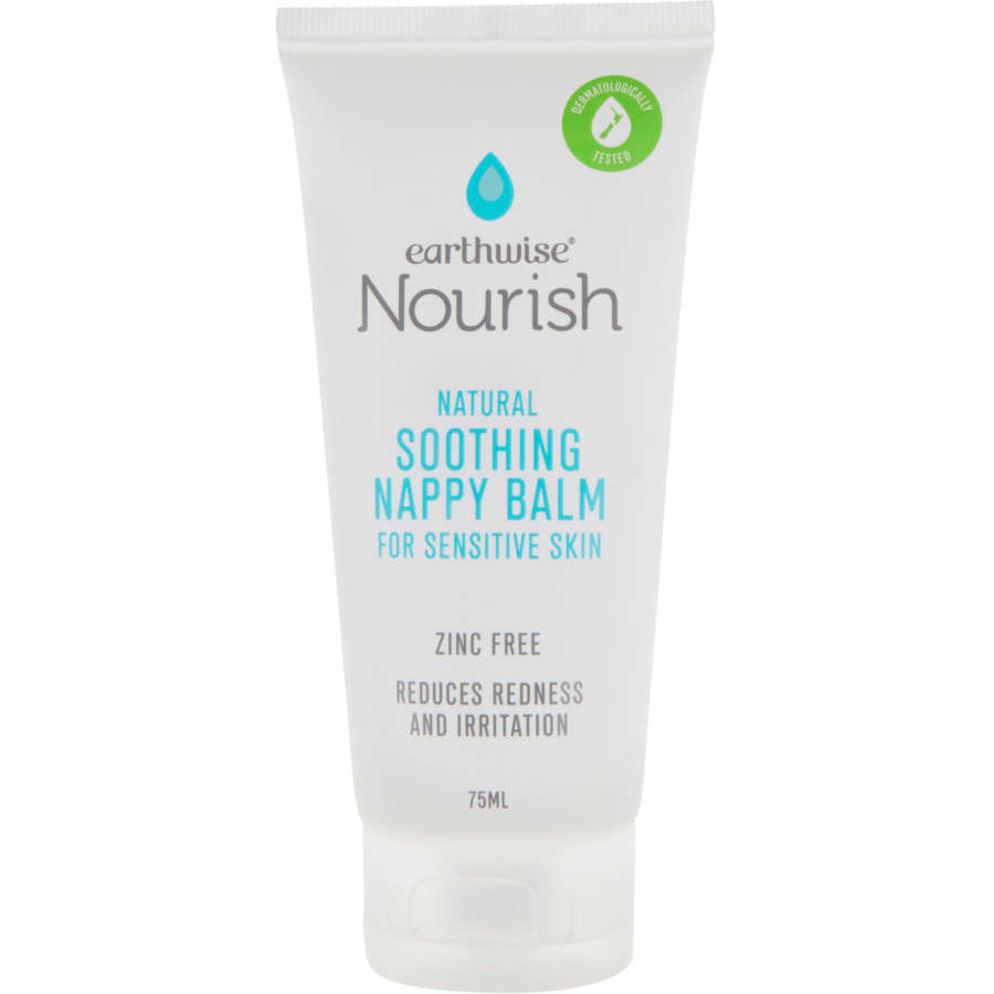 Earthwise Nourish Baby Cream Soothing Nappy Balm tube 75ml - buy online at countdown.co.nz