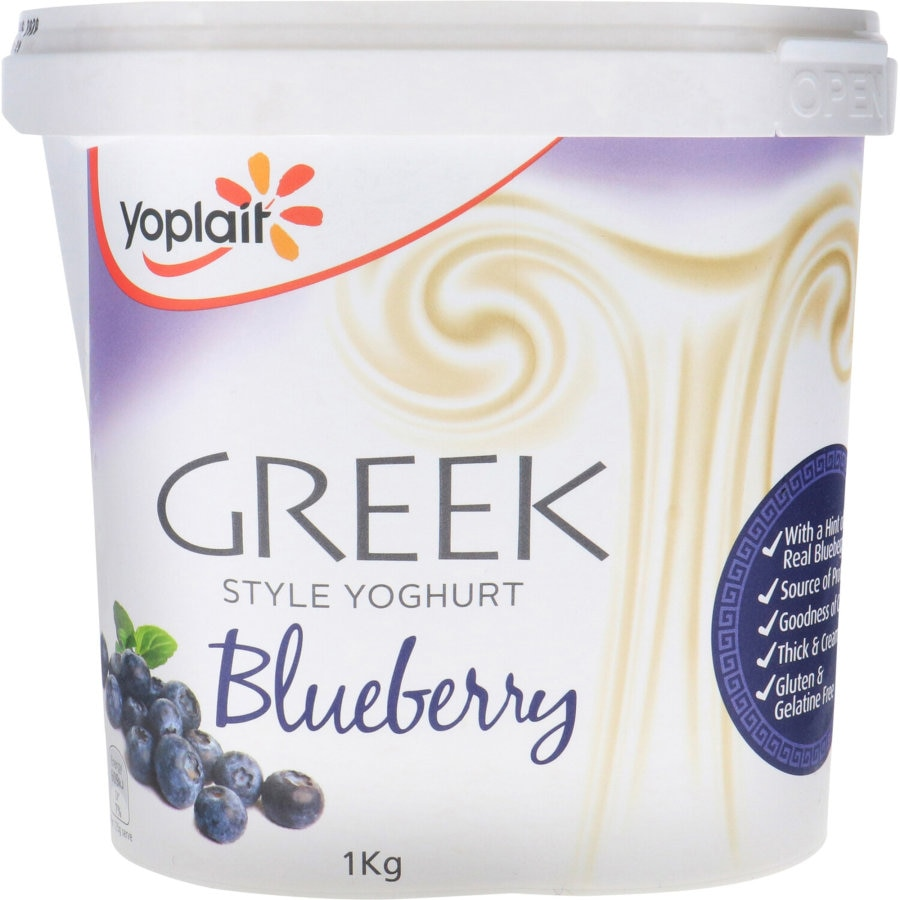 Yoplait Yoghurt Tub Greek Style Blueberry 1kg - buy online at countdown.co.nz
