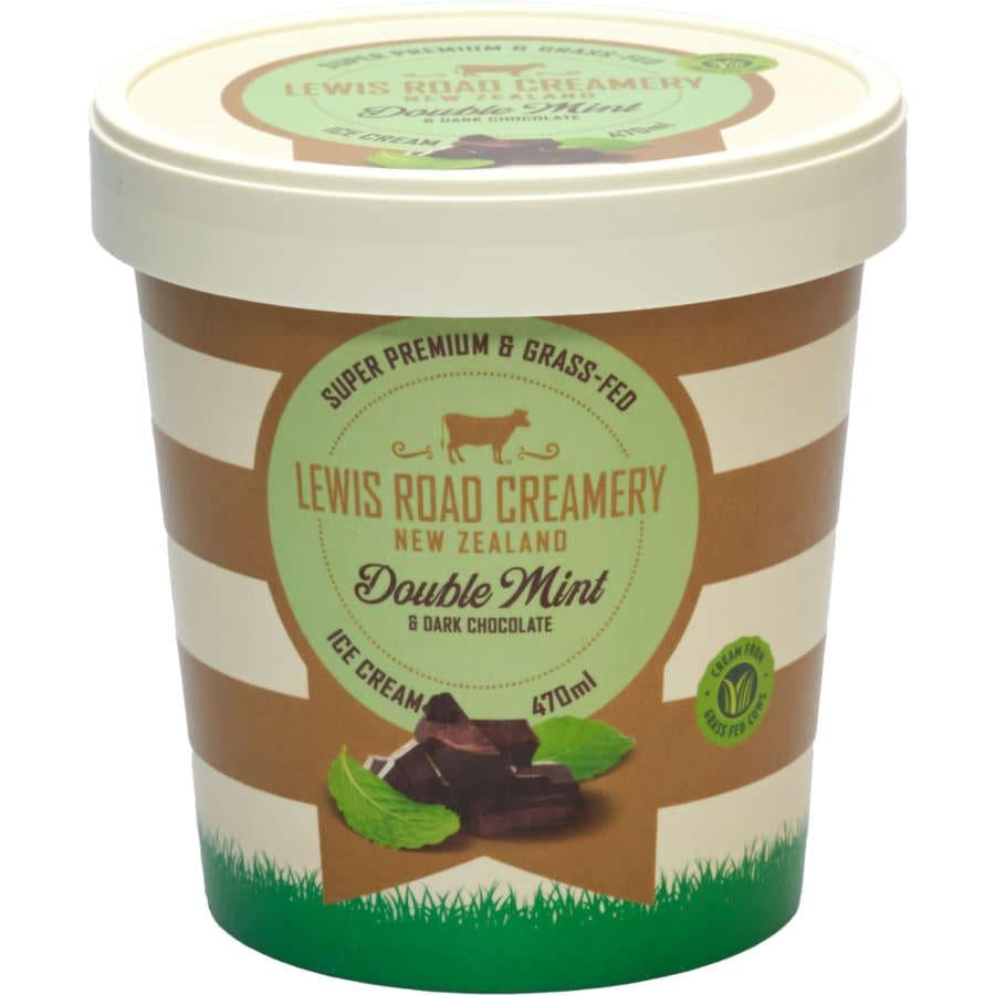 Lewis Road Creamery Ice Cream Garden Mint & Dark Chocolate 470ml - buy online at countdown.co.nz