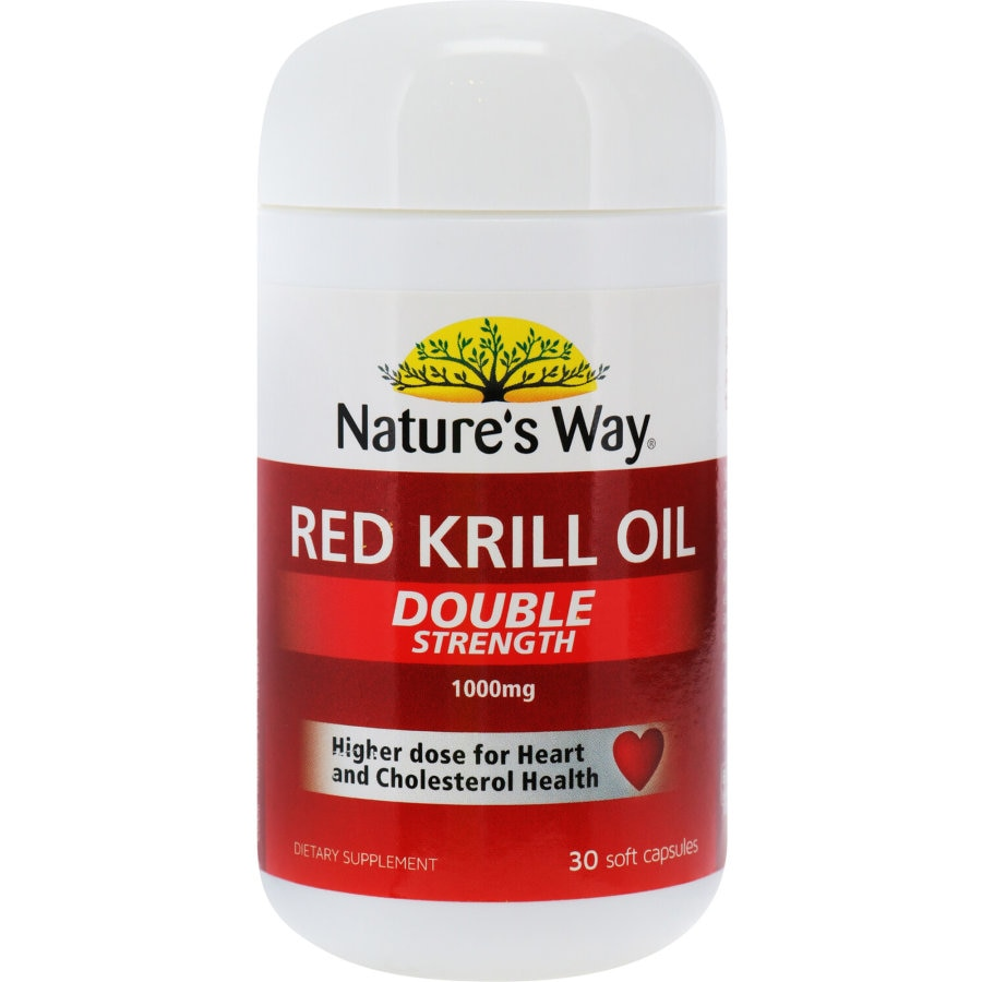Nature's Way Red Krill Oil 1000mg Capsules, 30pk