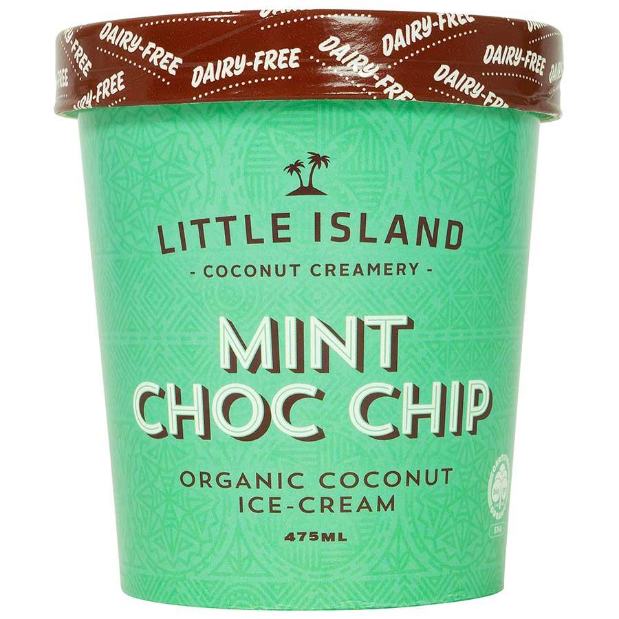 Little Island Dairy Free Ice Cream Mint Choc Chip 475ml - buy online at countdown.co.nz